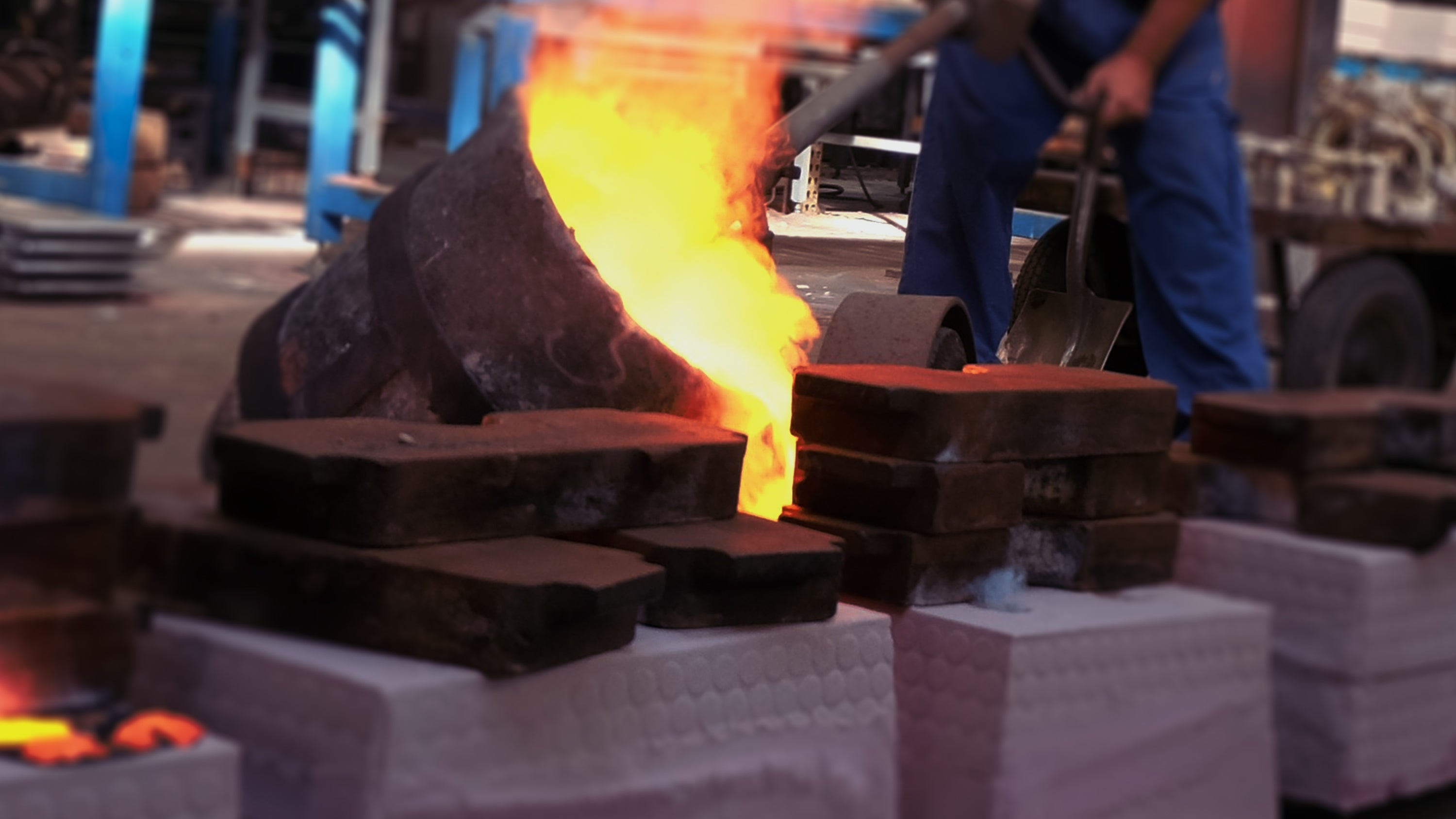 Foundry casting, moulding