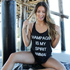 Clothing By Owl Tank Champagne is my spirit animal