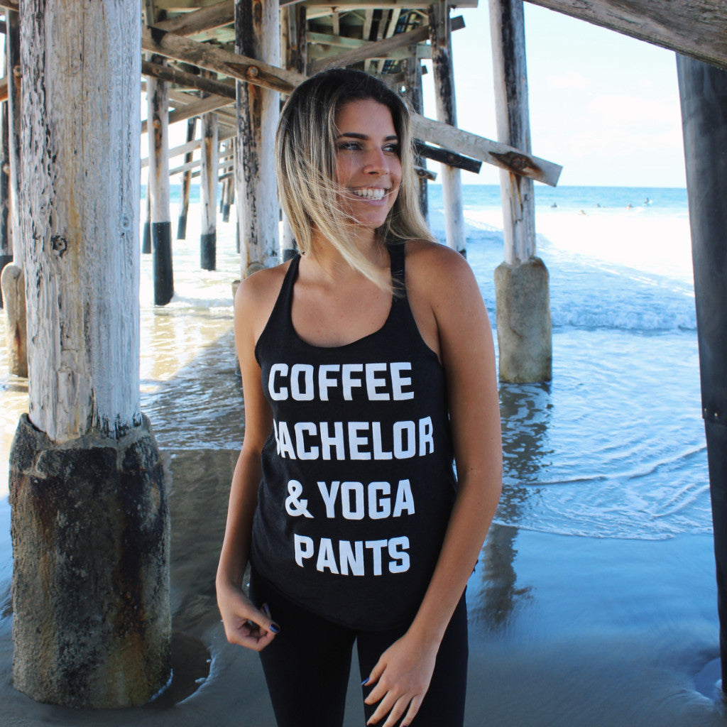 Clothing By Owl Tank Coffee Bachelor & Yoga Pants