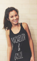 Clothing By OWL Tank Top Bachelor & Chill