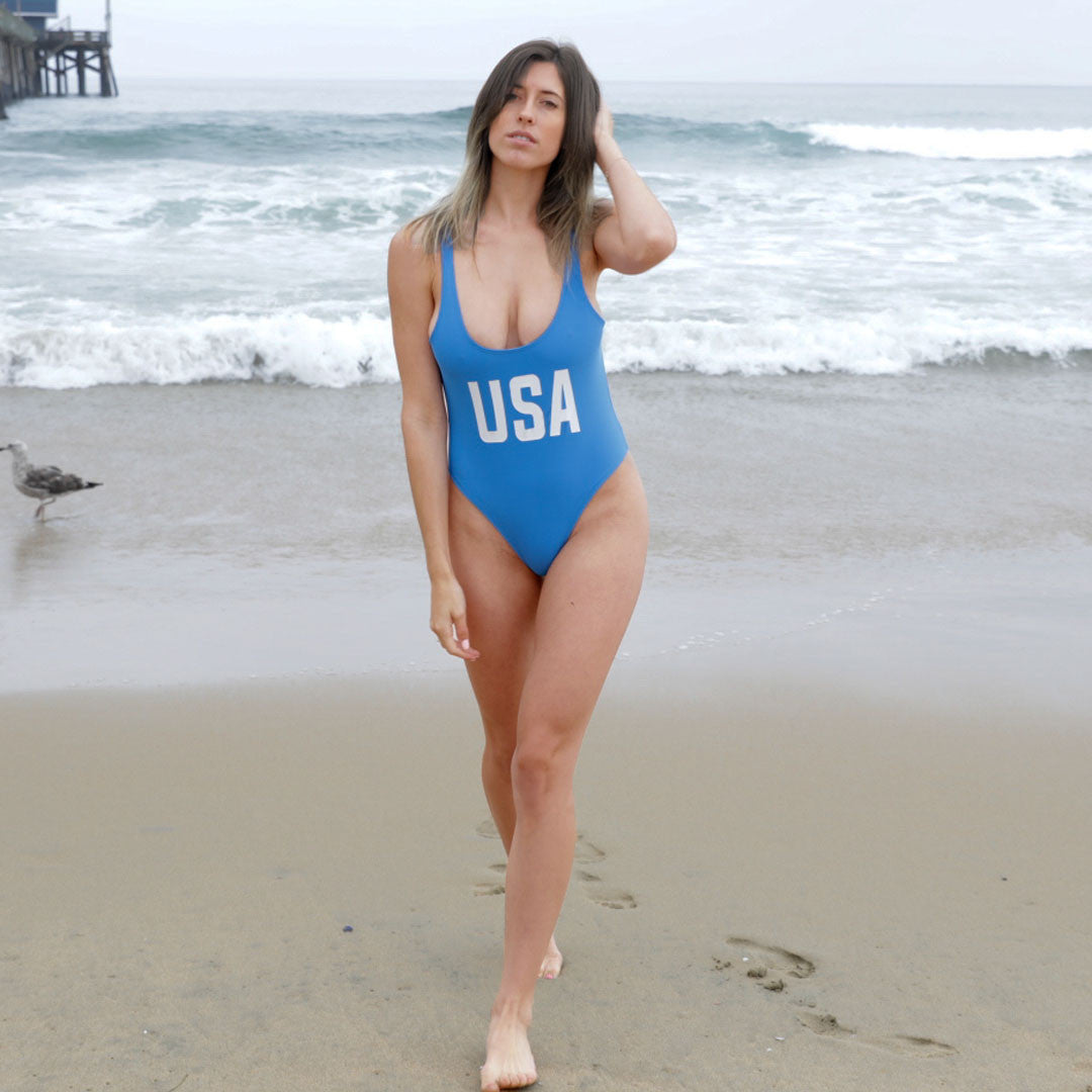 USA Blue Swimsuit
