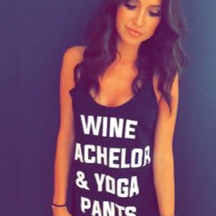 Clothing By OWL Tank Wine Bachelor & Yoga Pants