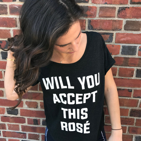 Clothing By OWL Shirt Will You Accept this Rose