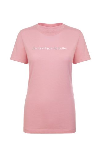 the less i know the better Crew Neck T-Shirt