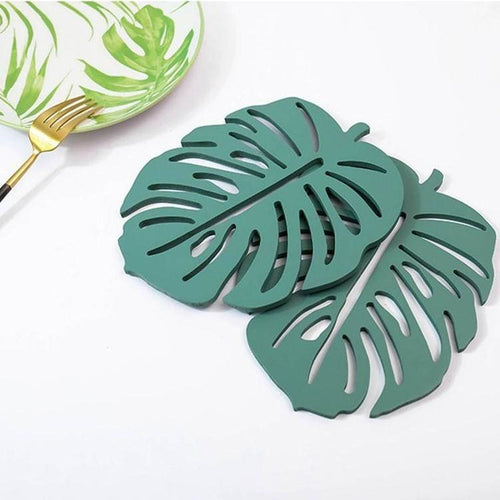Monstera Coasters (2) - Monstera Coaster Kitchen