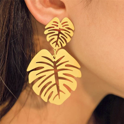 Monstera Earrings - Earring Monstera