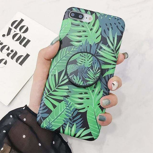 Monstera iPhone Case + Holder - for iPhone X, XS, 11 Pro -