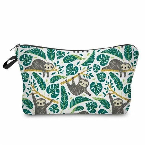Novelty Travel Bag - Monstera Sloth - Monstera