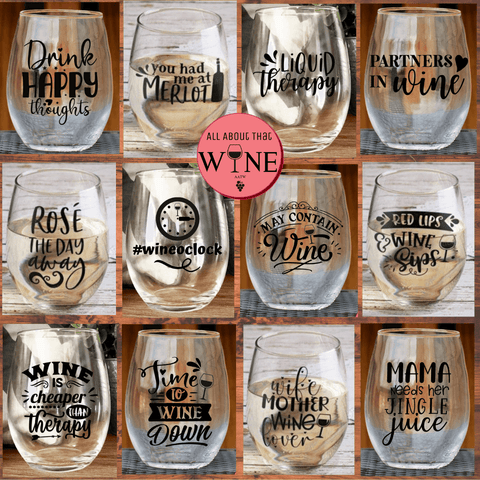 Quirky Stemless Glasses