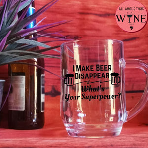 I Make Beer Disappear -Please Select Vinyl Color-