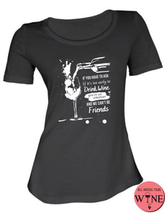 If You Have To Ask - Ladies T-shirt S Black with white