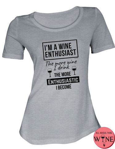 I'm A Wine Enthusiast S Grey melange with black