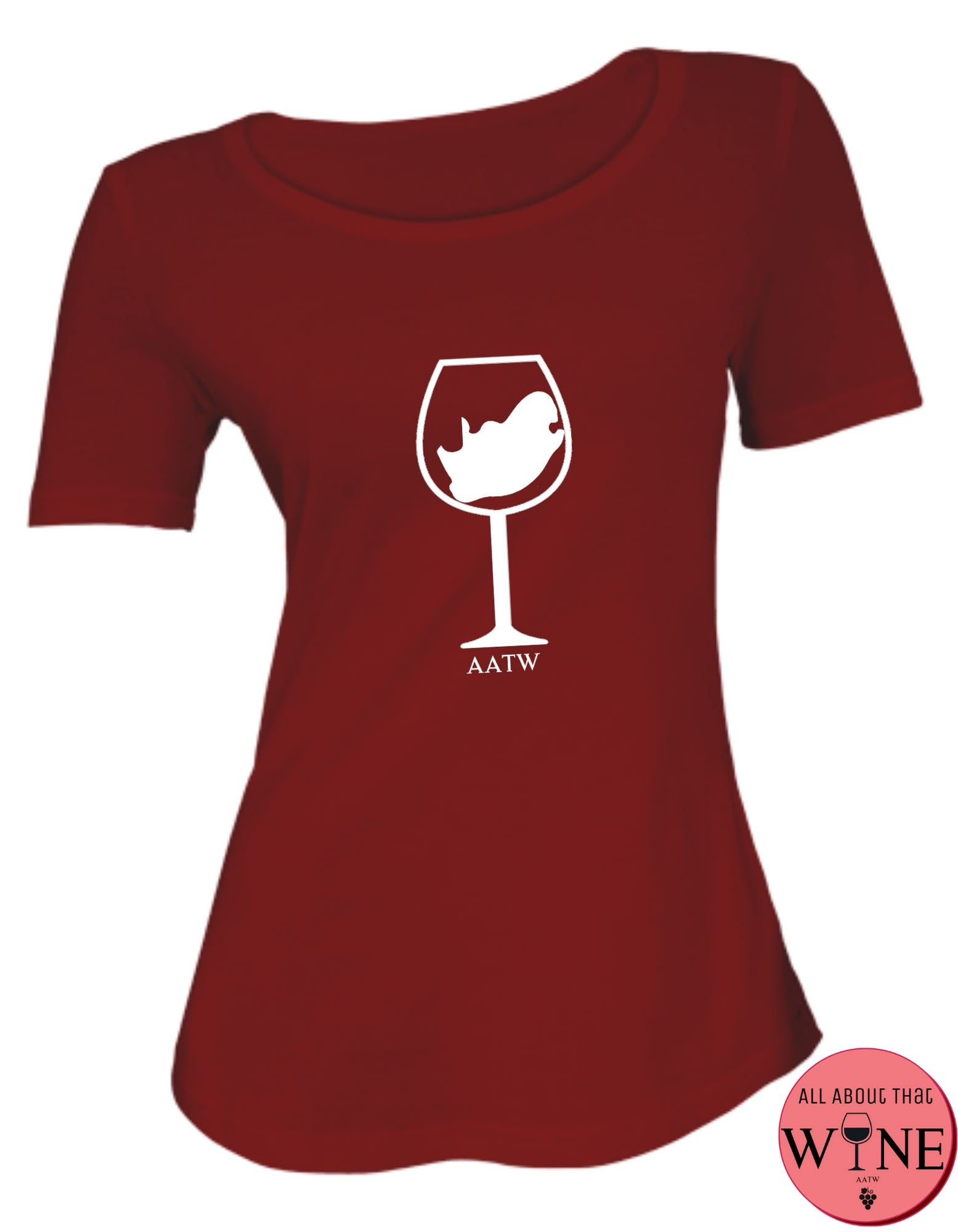 SA Wine Glass S Deep red with white