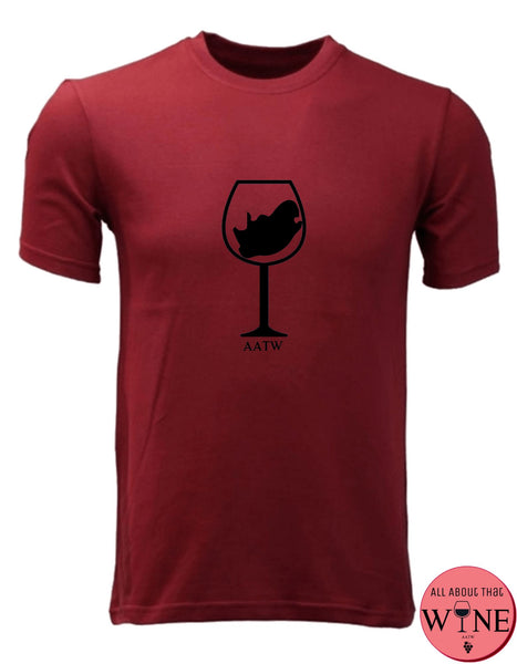 SA Wine Glass - Unisex/Male M Deep red with black