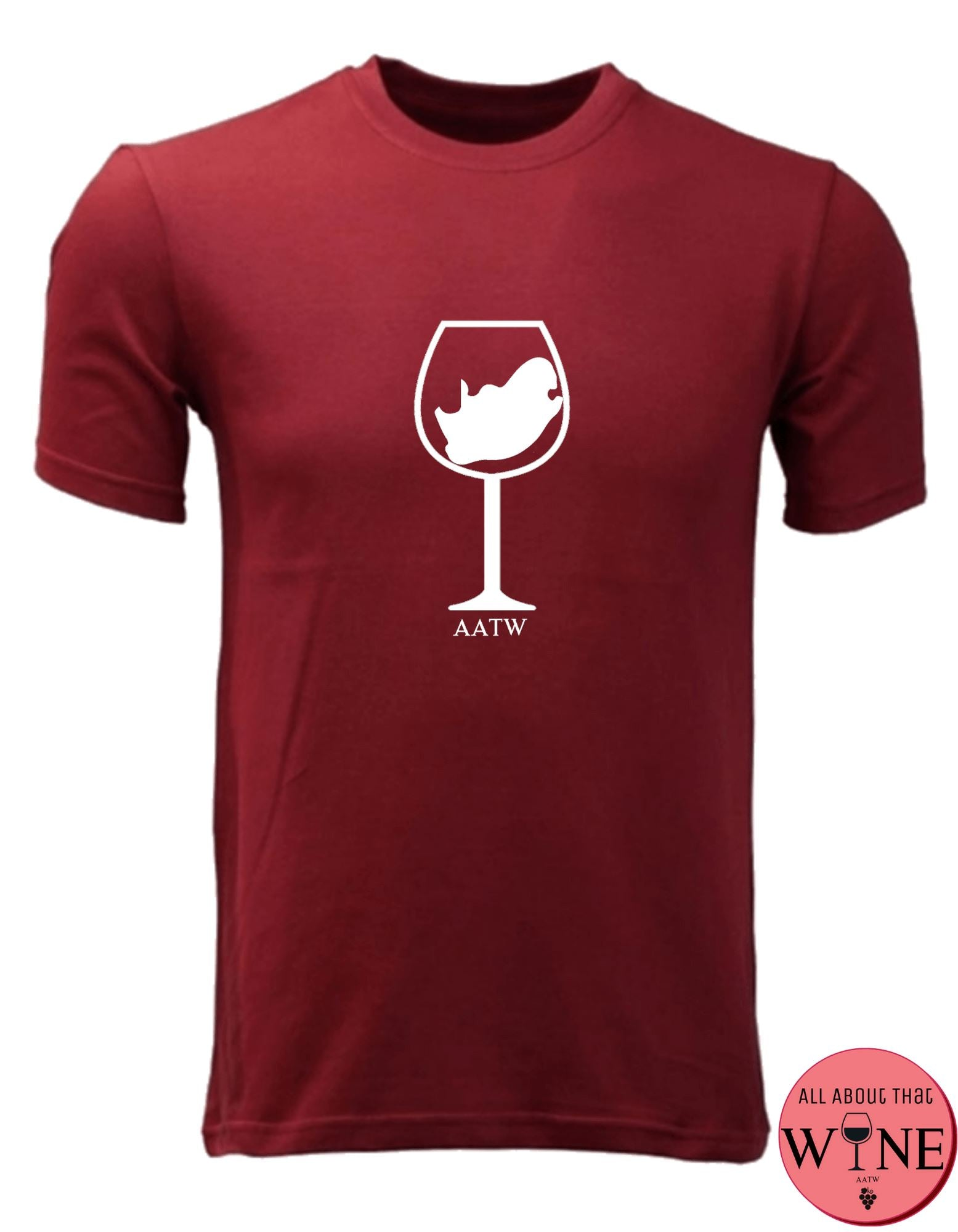 SA Wine Glass - Unisex/Male S Deep red with white