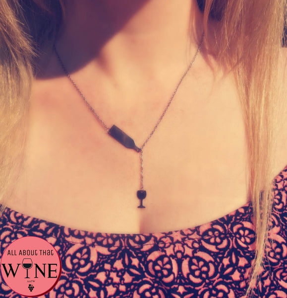 Stainless Steel Wine Necklace