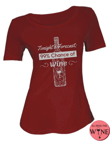 Tonight's Forecast - Ladies T-shirt S Deep red with grey