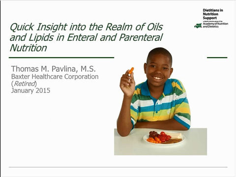 Lipid Tutorial Module 1 : Everything You Ever Wanted to Know about Oils/Lipids