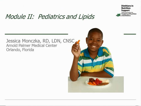 Lipid Tutorial Module 2 : Pediatrics and Lipids NON-Member