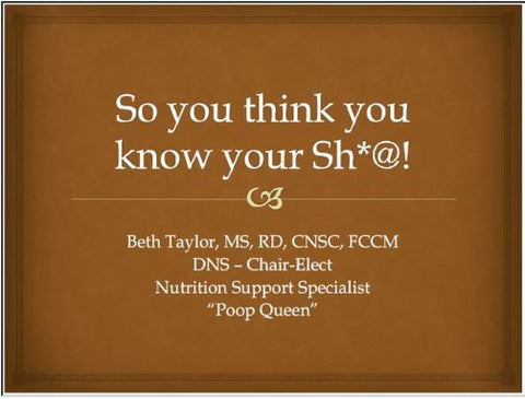 So You Think You Know Sh*t Everything You Wanted to Know About Poop but Were Afraid to Ask Webinar - Non-Member Price