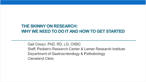 2017 Symposium session: The Skinny on Research: Why We Need to Do It and How to Get Started- Non-Member Price