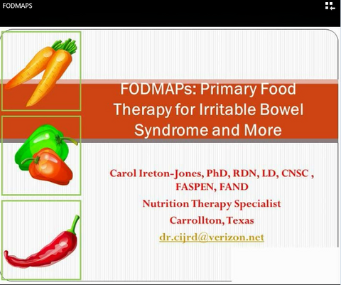 2015 DNS Symposium- Probiotics and FODMAPS -member price