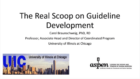 2017 Symposium session: The Real Scoop on Guideline Development- Member Price