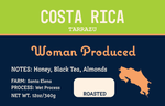 Costa Rica Roast, whole bean coffee from woman owned rostary in Denver