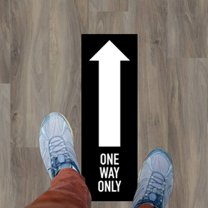 "One Way Only graphic 12"" x 4"" - Black"