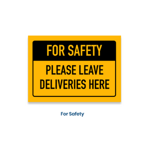 "7""h x 10""w removable vinyl decal - For safety design"