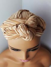 Load image into Gallery viewer, Agatha Butter Silky Infinity Multiple Style Turban