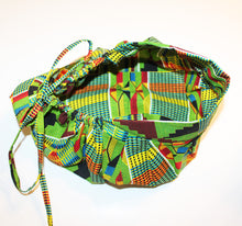 Load image into Gallery viewer, AGAPE Kente Print Bouffant Nurses Hat With Matching Pleated Face Mask