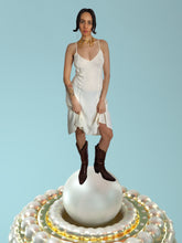 Load image into Gallery viewer, ivory slip dress with princess seams and spaghetti straps