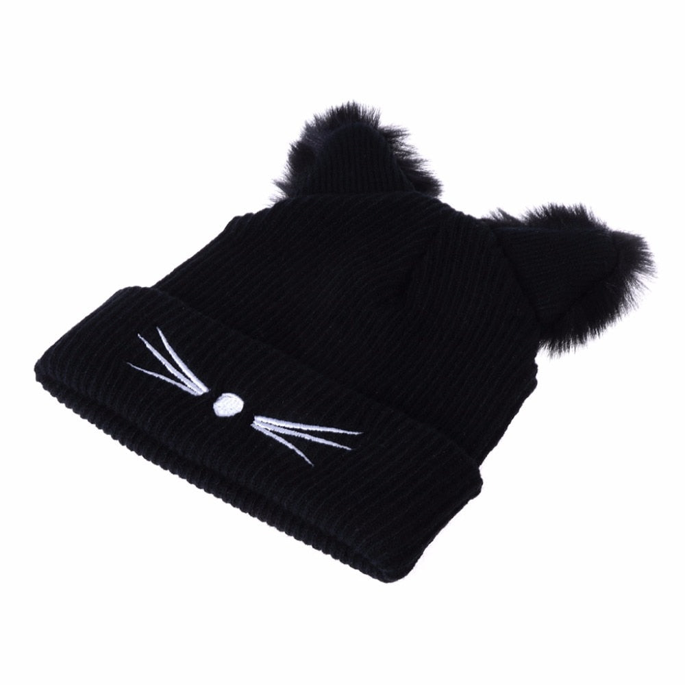 Cat Ears Women Hat Knitted - Live Long and Pawspurr Shop