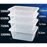 Microwavable Plastic Container Rectangular