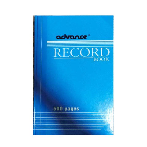 Advance Record Book 500PP Blue Cover