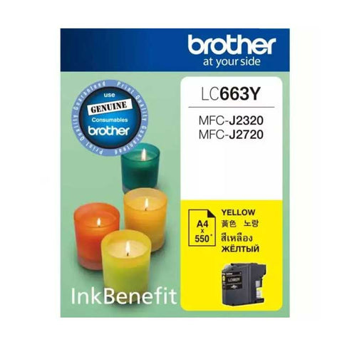 Brother Ink Cartridge 663 Yellow