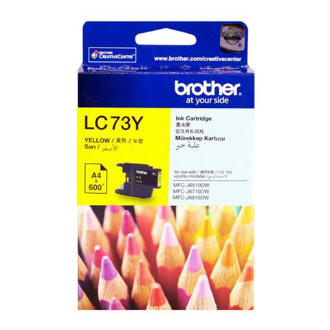 Brother Ink Cartridge LC - 73 Yellow