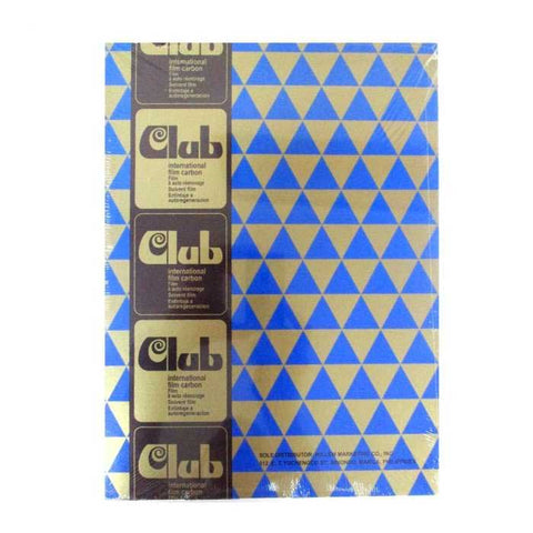 Club Carbon Paper Short Blue
