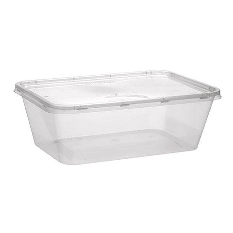 Microwavable Plastic Container Rectangular 500ml