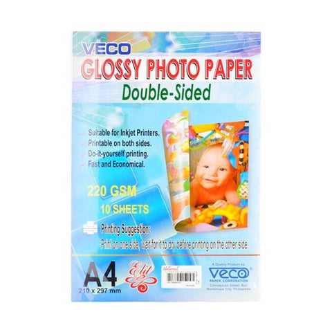 ELIT PHOTO PAPER GLOSSY BOTH SIDES 220gsm A4 / 10's