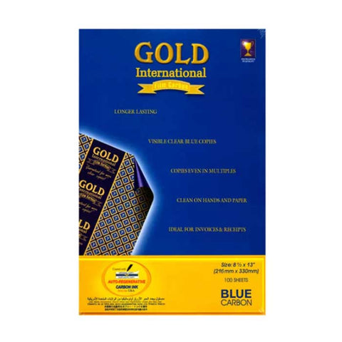 Gold Carbon Paper Long (Blue)