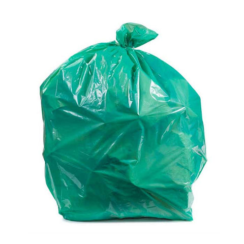 "Colored Trash Bag 13"" X 13"" X 32"" Large 100's Green"