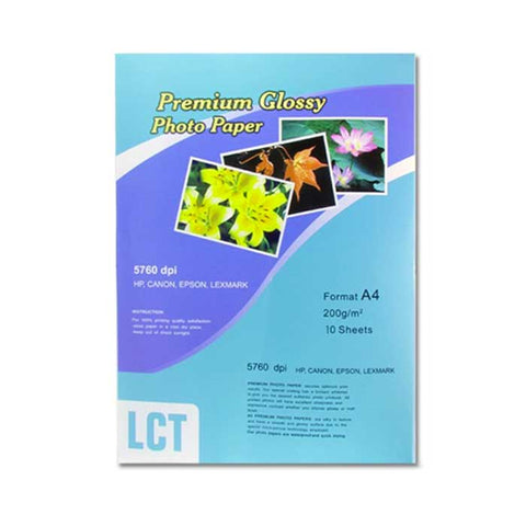 LCT PHOTO PAPER GLOSSY A4 10'S