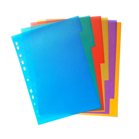 PP INDEX PLASTIC FILE DIVIDER 5'S A4