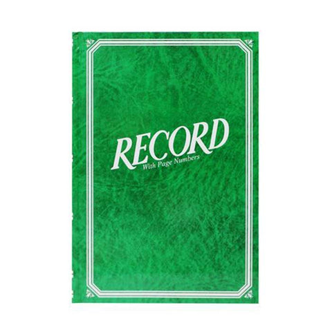 VECO RECORD BOOK #88 GREEN COVER