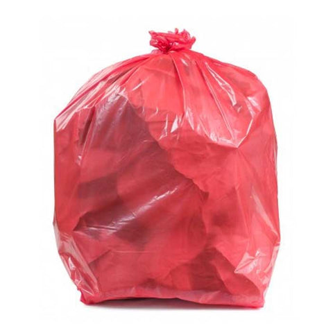 "Colored Trash Bag 13"" X 13"" X 32"" Large 100's Red"