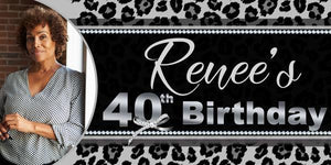 Animal Print Birthday Banner