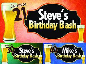 Beer Birthday Banner