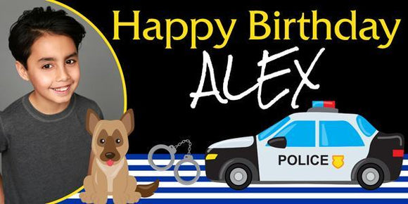 Police Dog Birthday Banner